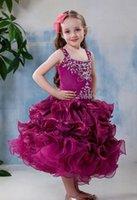 Wholesale Childern New Dress - New Flower Girl Dress Both Shoulders Zipper Back Girl Pageant Gown Prom Dress Flower Girl Dresses Childern Dress YTZ99