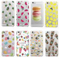 Wholesale Banana Case Iphone - Food Fruit Starbuck Pineapple Lemon Banana Cactus Strawberry Sushi Soft Case For Apple iPhone 7 6 6S Plus 5S SE 5C 4s