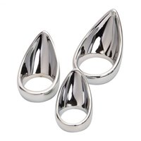 Wholesale Sex Cock Inches - Plus Size 2 Inch Inner Diameter Stainless Steel Cock Ring with Stimulating Anal Massage for Men, Erotic Sex Product 17402