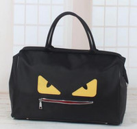 Wholesale hobo hand - Little monster Plain Sports bag travel bag outdoor Polyester sports bag luggage bags folding travel bag gym sport Canvas hand bag