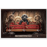 Wholesale Cartoon Puppy Wall Stickers - Lab Puppy in Little Red Wagon Custom HD Home Decor Retro Classic Vintage Movie Poster Print 50x75cm Free Shipping Wall Sticker
