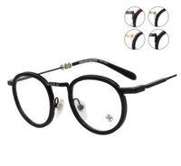 Wholesale Lighting Eyeglasses - Brand Glasses- JUCIFER II round glasses men Glass frames optical frame myopia super light vintage eyeglasses frame from G heart