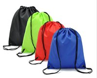 Wholesale Waterproof Drawstring Backpacks - 2017 Free Shipping Portable Waterproof Drawstring Backpack Polyester Shoulder Bag For Sports Travel Large Capacity Drawstring Bag