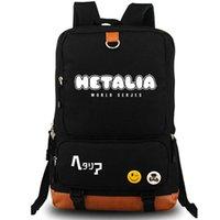Wholesale Axis Backpack - Hetalia backpack World Serjes daypack Axis Powers schoolbag Cartoon rucksack Sport school bag Outdoor day pack