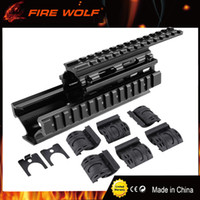 Wholesale FIRE WOLF AK Tactical Quad Rails Handguard Rail with covers Hunting Shooting Tactical RIS Quad Rail