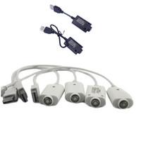 tipos de cables electrónicos al por mayor-2 tipos de eGO Cable USB Cargador Cigarrillo electrónico Cargador USB para eGo eGo-T EGO-C EGO-W E-cigarrillo ego510 batería de hilo blanco y negro