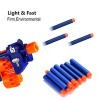 Wholesale Nerf Guns For Free - Free Shipping 100pcs Foam Bullet Darts for Nerf N-strike Elite Series Darts Kid Toy Gun Refill Pack Blue
