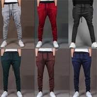 Wholesale Loose Fitted Harem Pants - New Mens Joggers Fashion Harem Pants Trousers Hip Hop Slim Fit Sweatpants Men for Jogging Dance 8 Colors sport pants M~XXL