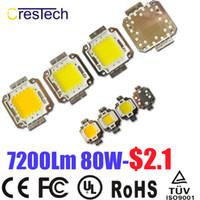 Wholesale Epistar Chip Led Cob - Free Shipping 10pcs Epistar Chip High Power COB Chip LED 10W 20W 30W 50W 70W 80W 100W Warm White 2800-3200K On Stock