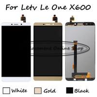bir inç lcd ekran toptan satış-Toptan-100% Test Beyaz / Altın Letv Le one Le 1 Için 1 inç 1 X600 X608 LCD Ekran + Dokunmatik Ekran Digitizer Meclisi Değiştirme