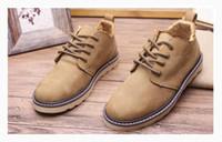 Wholesale Cowhide Top Boots - 2016 Top Quality Hot Fashion Men Shoes Spring Autumn Ankle Boots Men Comfortable LeatherAnkle Boots Men Martin Cowhide Size Euro 39-44