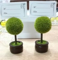 Wholesale Tree Place Card Holders Wedding - Wedding Favors Gifts Topiary tree photo holder Place Card holder Party wedding table decoration 100PCS LOT