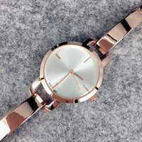 Wholesale fashion brand bracelet online - 2016 Fashion lady watches women watch silver rose gold Stainless Steel black Bracelet Wristwatches Brand femalec clock