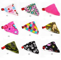 Wholesale collars for female dogs for sale - Group buy Multicolor Styles Adjustable Dog Collar Puppy Cat Scarf Collar for Dogs Bandana Neckerchief Pet Accessories
