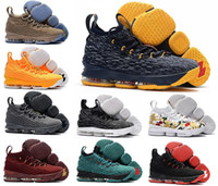 Wholesale Ghost Race - 2017 New LeBron 15 shoe Ghost Man Basketball Shoes Ashes high quality Mens Running sport Trainer sneakers size Eur 40-46