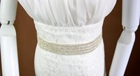 Wholesale Glamorous Wedding Dress Belts - Glamorous Beaded Rhinestones Bridal Sashes Cheap Wedding Dress Belt 2017 Chic Belt For Formal Dress High Qulity