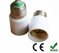 Wholesale E27 Sockets - Extension socket E27 To E27 Lamp Holder Base Bulb Socket Adapter E27-E27 Fireproof Material Halogen Edison cree LED Light Adapter Converter