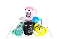 Wholesale use office resale online - New Design ML Stainless Lazy Self Stiffing Mug Auto Mixing Tea Coffee Cup Office Home Use Christmas Gifts