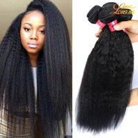 cabelos premium kinky venda por atacado-8a 100% Não Transformados virgem Brasileira Humano kinky reta weave yaki cabelo tece produtos de cabelo Longjia premium novo cabelo tece 3 pacotes
