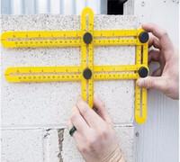 Wholesale Wholesale Plumbing Tools - Angle Template Tools Ruler Motop New Multifunctional Angle Model Angle Ruler Plastic Measuring Tool for Handymen Builders Craftsmen