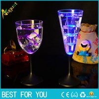 6pcs set Water Inductive LED Cup Glowing Champagne Beer Wine Drink Liquid Fruit Juice Glass Mug Festival Party Creative Gift