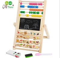 Wholesale Educational Drawing Board - Children Wood multi - purpose magnetic drawing board Calculation Wood Abacus Early Educational Tool Multi-function Beads Computing Frame