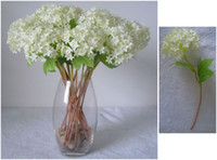 Wholesale Singed Flowers - Free shipping(1 Head pcs)Artificial flowers, singe Mini Hydrangea,Pure and Sweet,Valentines Day flower,Wedding decoration flower