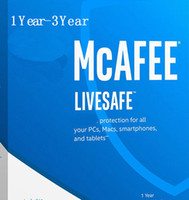 Wholesale Home Security Android - NEW McAfee LiveSafe Antivirus internet security PC Mac Android iOS 1 Year 2YEAR 3YEARS Unlimited Devices