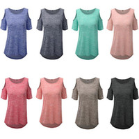 Wholesale Women S Sexy T Shirts - Plus Size T Shirts Summer Short Sleeve Tops Women Fashion Loose Shirts Solid Casual Blouse Sexy Blusas New Tees Women's Clothing 2017 B2398