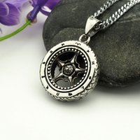 Wholesale Number Wheel - fashion vision stainless steel wheel pendant necklace hip hop necklaces with chain jewelry for men or women item number hps022