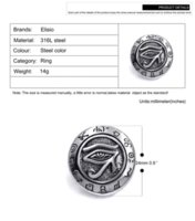 Wholesale Horus Eyes - Mens Boys Egyptian Eye of Horus Ra Udjat Talisman Stainless Steel Stainless Steel Ring wholesale