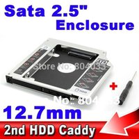 Second 2nd Caddy 12.7mm SATA to Sata 3.0 Boîtier SSD HDD HD 2.5