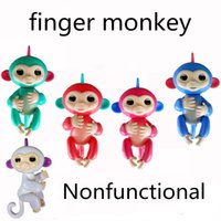 Wholesale Music Monkeys - New arrival finger monkey 5 colors Pre-sale Fingerlings Interactive Baby Monkey Finger Toys Baby Monkey Sound Finger Motion Hanger Toy Gift