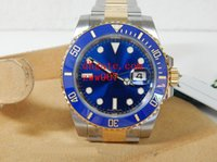 ingrosso orologio di lusso blu-Luxury AAA Brand Wristwatches Blu zaffiro luminescente 40mm ceramica BEZEL Two Tone Gold 116613 116613LB Mens automatico meccanico Orologi