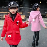 Wholesale Baby Outer Coat - Wholesale- Retail 2016 New Lovely Winter Warm Baby Children Girls Outerwear Coats Teens Clothes Girl Outer Wear Hoodies Teenagers