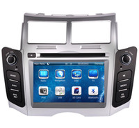 dvd gps bluetooth usb sd al por mayor-Reproductor de DVD de coche para Toyota Yaris 2005-2011 con navegación GPS Radio TV Bluetooth USB SD AUX Mapa Auto Audio Video Stereo Sat Nav