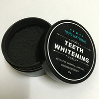 Wholesale Bright Teeth Whitening - 2017 All Natural Organic Activated Charcoal Teeth Whitening Tooth and Gum Powder Bright White Teeth Cleaning 30g Remove Stain Bad Breathe