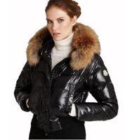Wholesale Short Feathered Jacket - Smooth down jacket in the winter of 2016 new women short coat Big raccoon fur cap Slim women winter coat