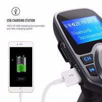 Wholesale Iphone Car Stereo Transmitter - T11 Bluetooth Car FM Transmitter Wireless Radio Adapter USB Car Charger Mp3 Player USB Adapter For Iphone 6 Iphone 6 Plus