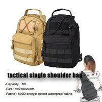 Wholesale Shoulder Bag Brown Molle - Free Shipping Tactical 10L Men Molle Backpack Waterproof Nylon Single Shoulders Unisex Hunting Sports Travel Trekking Chest BagCL5-0056