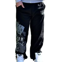 Wholesale Punk Rock Pants Trousers - Wholesale- Men's hip-hop Rock Cotton casual Rhino Print punk baggy pants Sweatpants Fleece trousers joggers