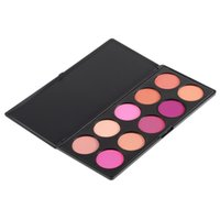 Wholesale- 1set Pro 10 Farbe Make-up erröten Gesicht Rouge Pulver Palette Kosmetik Professional Make-up Produkt