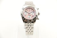 Wholesale 34mm Free - 2017 new luxury brand watches women pink dial AAA big diamonds quartz movement sapphire original clasp ladies watches 34MM free shipping