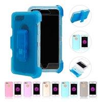 Wholesale Minions Clips - Bulk minion phone cases For iPhone 6 Plus iPhone 6s Plus iPhone 7 Plus Assembly PC TPU Detachable 3 in 1 Protective Case Tape clip