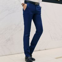 Wholesale dress pants for men - New Spring Autumn Fashion slim fit Men Casual Pants Straight Dress Men Elastic Business Suit Trousers Mens Pants For Man