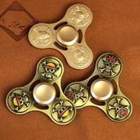 Wholesale Beyblade Pieces - Novelty Gag Hand Spinner One Piece Alloy Beyblade Fidget Torqbar Gyro Metal Triangle Handspinner Killing Time Toy Pirate Spiral