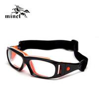 Wholesale Eyewear Soccer Glasses - Wholesale- Mincl  Sports eye safety protection glasses basketball soccer optical eyeglasses eye glasses spectacle frame eyewear can myopia