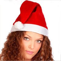 Wholesale Christmas Plush Santa - New Arrival Christmas Cosplay Hats Kids And Cute Adults Thick Ultra Soft Plush Santa Claus Christmas Cap Christmas Supplies Fast Shipping