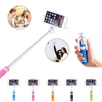 Wholesale wired camera for android resale online - Universal Mini Selfie Light Extendable Wired Selfie Stick Remote Control Monopod Tripod Camera For iPhone Samsung Xiaomi Android