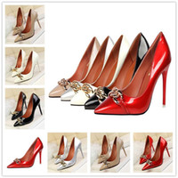 2017 Sexy Frauen Pumps Red Bottom High Heels Wildleder High Heel Damen Hochzeit Schuhe Braut Mental Stiletto Heels Schuhe Frau